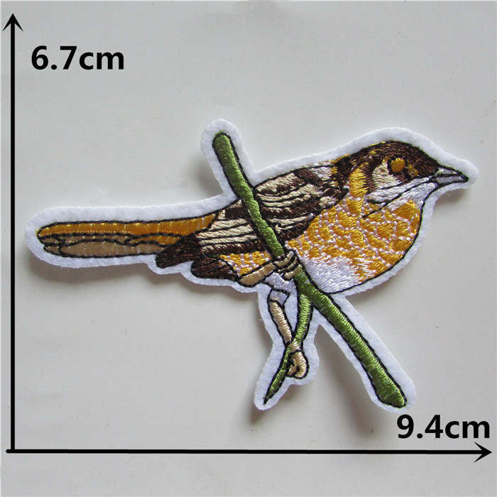 2016 year different style bird new arrive hot melt adhesive applique embroidery patches stripes DIY accessory high quality