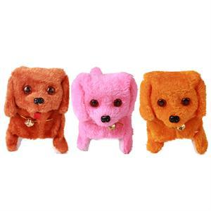 2017 1PCS Hot Selling New Fashion Walking Barking Toy High Quality Funny Electric Short Floss Dog Toys Electric Dog Moving Dog