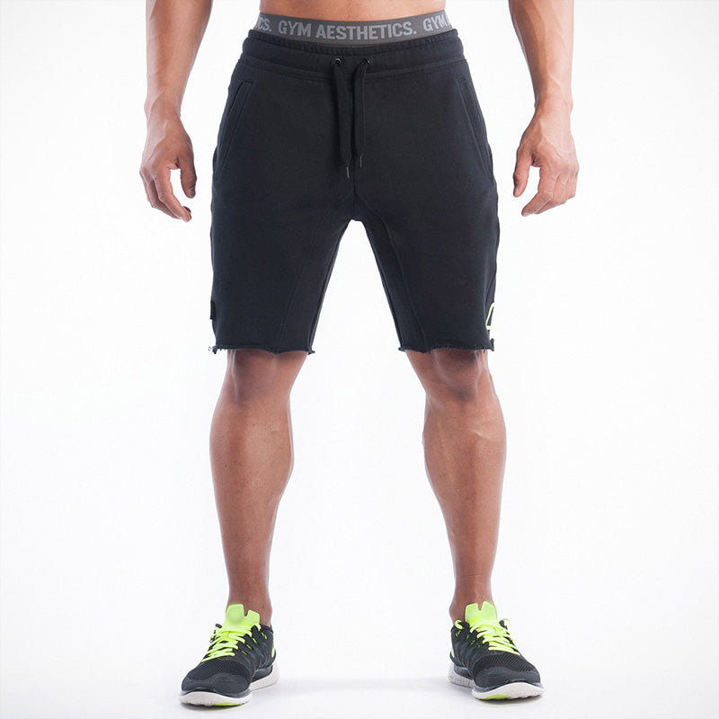 2017 Brand High Quality Cotton Men shorts Bodybuilding Fitness Gasp short masculino workout jogger shorts golds