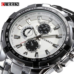 2017 Brand Luxury full stainless steel Watch Men Business Casual quartz Watches Military Wristwatch waterproof Relogio New SALE