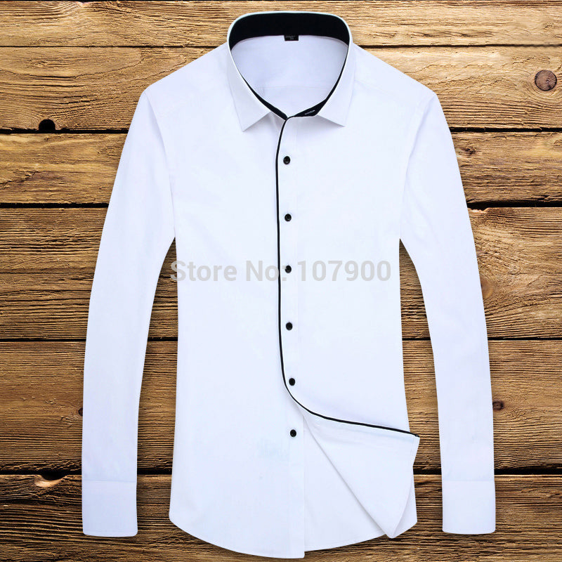 2017 Brand New Men Shirt Male Dress Shirts Men's Fashion Casual Long Sleeve Business Formal Shirt camisa social masculina