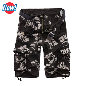 2017 Cargo Shorts Men Hot Sale Casual Camouflage Summer Brand Clothing Cotton Male Fashion Army Work Shorts Men Plus Size 29-40