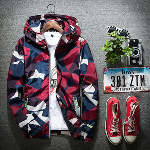 2017 Casual Thin Hooded 3m Reflective Summer Camouflage Jacket Men XXL