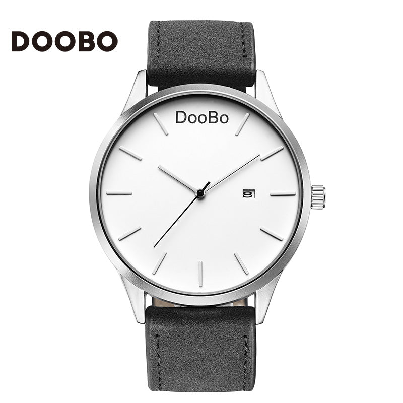 2017 DOOBO Fashion Casual Mens Watches Top Brand Luxury Leather Business Quartz-Watch Men Wristwatch Relogio Masculino
