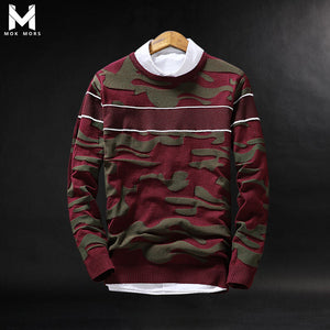 2017 European And American Classic Men's Sweaters, Embroidered Round Neck Sweater Men, Slim Male Sweaters, Cashmere Sweater