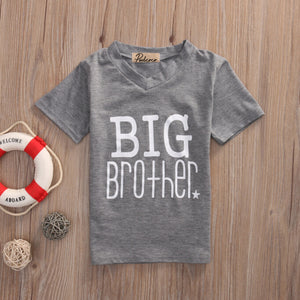 2017 Family Matching Outfits Infant Baby Little Brother Boy Romper Big Brother T-shirt Cotton Clothes Outfits