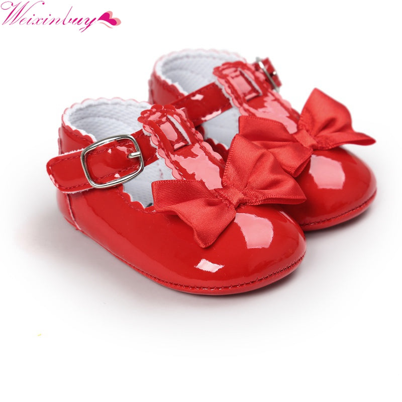2017 Fashion Kids Baby Girls Newborn Shoes PU Leather First Walkers Boots Cute Non-slip Shoes