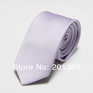 2017 Fashion Narrow Tie Men Wedding gravata slim 6cm width 19 colors
