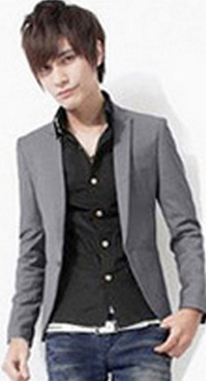 2017 Fashion Party Mens slim fit cotton blazer men Suit Jacket black blue plus size M-3XL Male blazers Mens coat Wedding dress