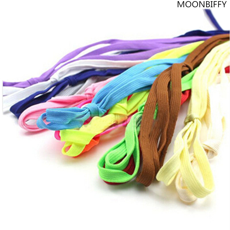 2017 HOT SALE 1Pair Shoelace Athletic Sport Sneakers Flat Shoelaces Bootlaces Shoe laces Strings For Multi Color
