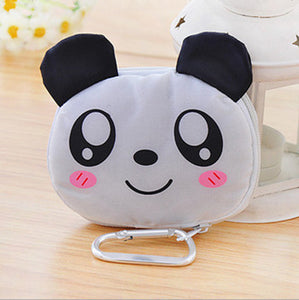 2017 Hot New Reusable Cute Animal Cartoon PortableLovely Folding Eco Shopping Waterproof Travel Bag Pouch Tote Handbag N301
