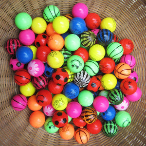 2017 Hot Sale 27mm Bouncy Ball High quality child elastic rubber ball Children of pinball 1pcs