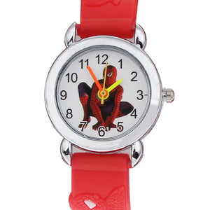 2017 Hot Sale Spiderman Watches Children Cartoon Watch Kids Cool 3D Rubber Strap Quartz Watch Clock Hours Gift Relojes Relogio
