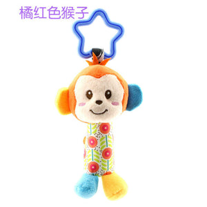 2017 Infant Baby Cloth bed crib Soft Rattle early Educational Toy Baby Toy Soft Baby Toys Rattle Tinkle Hand Bell Plush Stroller