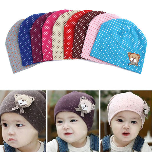 2017 Kacakid Fashion Baby Unisex Boys Girls Dot Beanie Hat Chic Kids Infant Drop Shipping