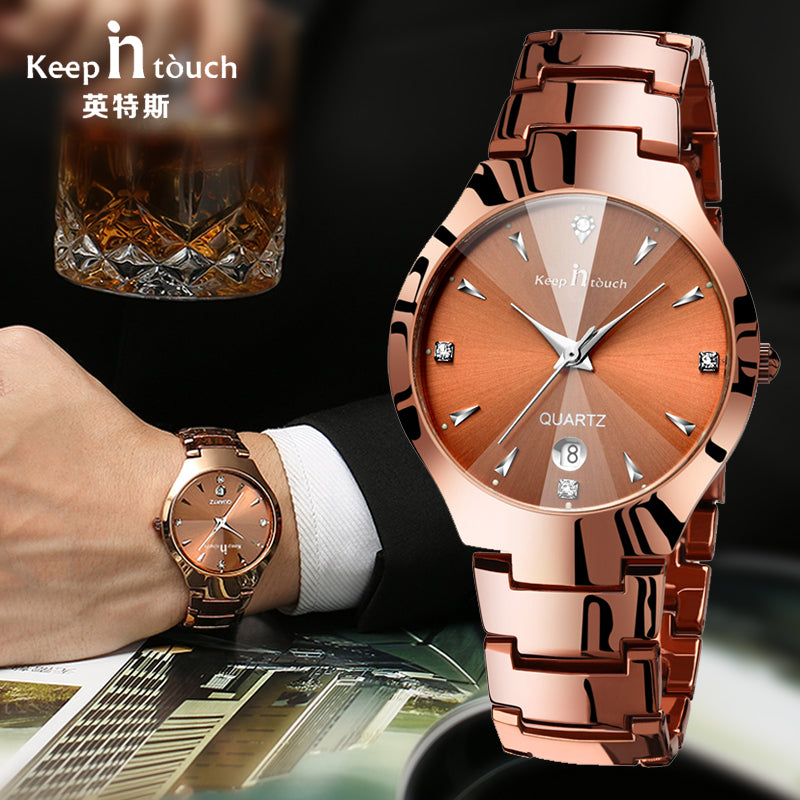 2017 Luxury Brand Lover Watch Pair Waterproof Noctilucent Men Women Couples Lovers Watches Set Wristwatches Relogio Feminino