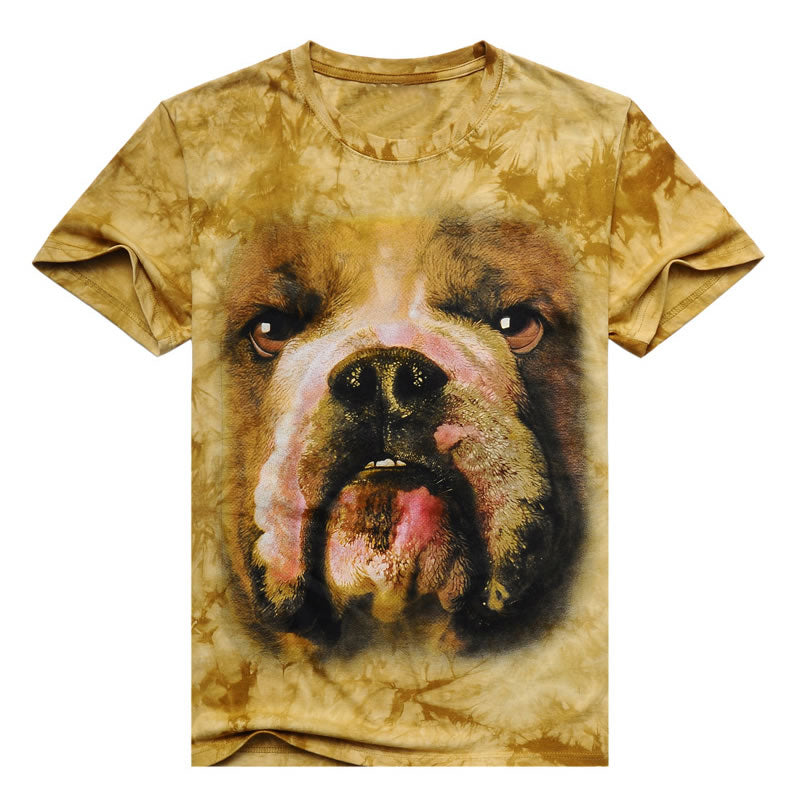 2017 Men 3D T Shirt Animal Short Sleeves Cotton O-Neck Tiedye Personalized T-Shirt Water Printed Tee Shirts T-Shirts Clothes A8