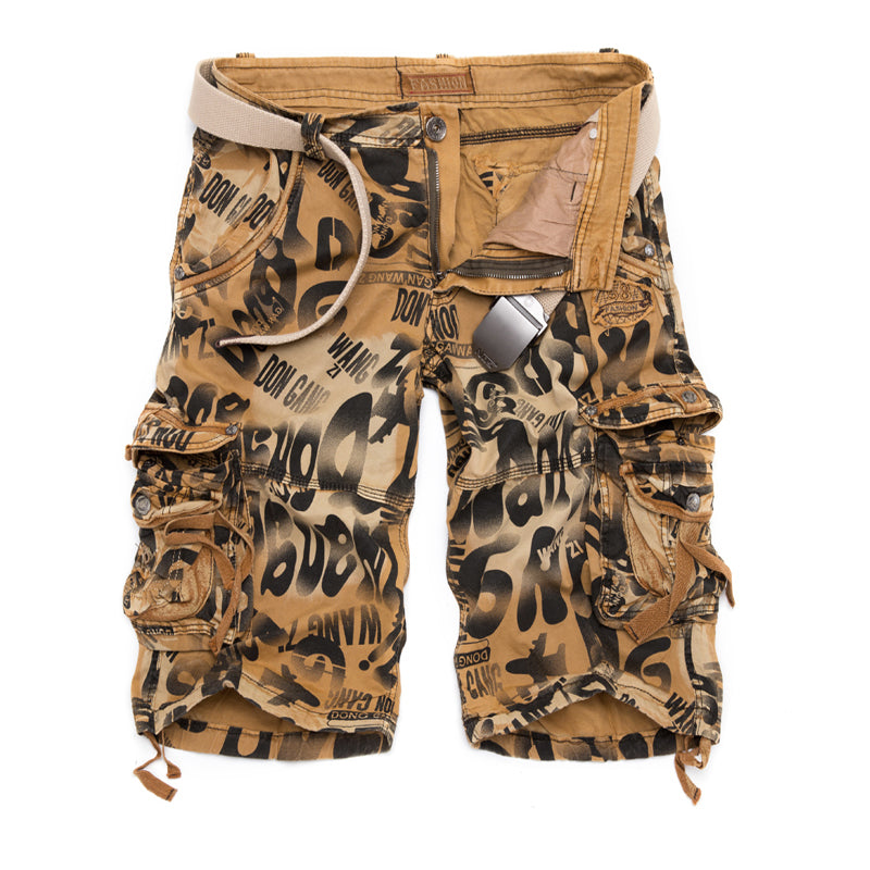 2017 Men Military Shorts Summer Men's Camouflage Army Cargo Shorts Workout Shorts Homme Casual Bermuda Trousers plus size