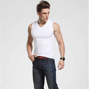 2017 Men Tank Top New Brand Chase Deer Cotton High Quality Undershirt Bodybuilding Singlet Fitness Sleeveless Vest Men Tank Tops