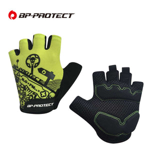 2017 NEW Cycle Silicone GEL Guantes Mountain Bike Bicycle MTB Half Finger Spring Men Cycling Gloves High Quality BPPROTECT
