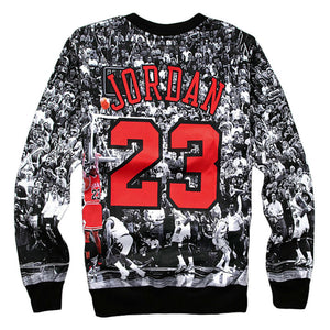 2017 New 3D Printed Sweatshirts Jordan Last Shot Harajuku Men Pullover Hoodies Crewneck Long Sleeve Hoody Clothing