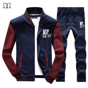 2017 New Arrival Men's Tracksuit Warm Sportwear Set Men Cardigan Printed Track suits Track Suit 4XL Male Red Yellow