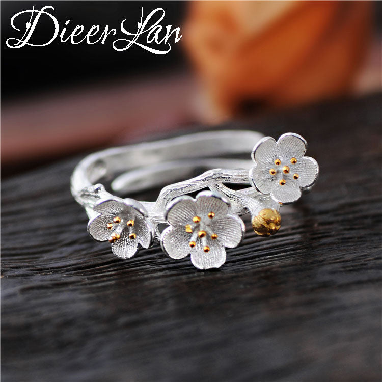 2017 New Arrivals 925 Sterling Silver Flower Rings for Women Ring Fashion sterling-silver-jewelry