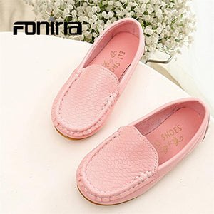 2017 New Autumn Children Shoes Basic Fashion Casual Shoes for Girls Boys Unisex Comfortable Kids Slip on Flat Loafers 090