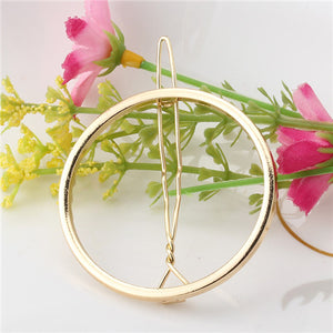 2017 New Brand Hairpins Triangle Moon Hair Pin Jewelry Lip Round Hair Clip For Women Barrettes Head Accessories Bijoux De Tete