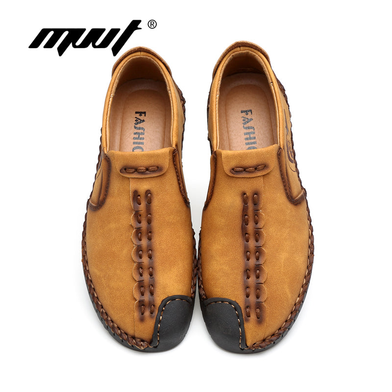 2017 New Comfortable Casual Shoes Loafers Men Shoes Quality Split Leather Shoes Men Flats Hot Sale Moccasins Shoes