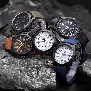 2017 New Famous Brand XINEW Men Date Quartz Watch Army Soldier Military Canvas Strap Analog Watches Sports Clock Wristwatches