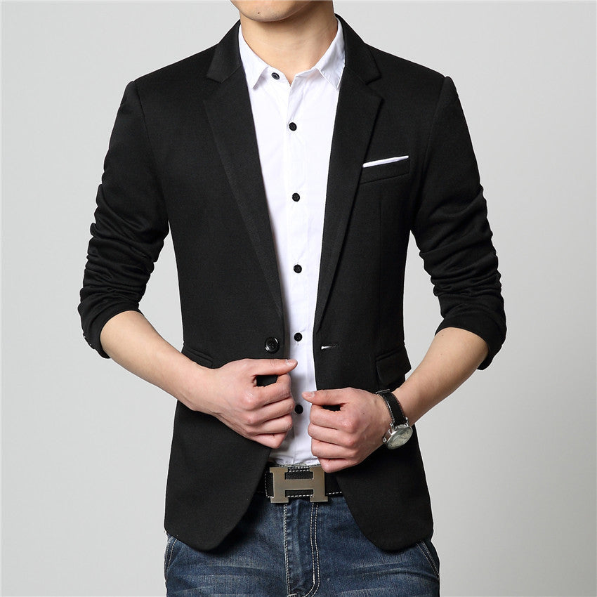 2017 New Fashion Casual Men Blazer Cotton Slim Korea Style Suit Blazer Masculino Male Suits Jacket Blazers Men M-6XL