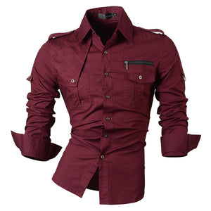 2017 New Fashion Casual slim fit long-sleeved men's dress shirts Korean styles cotton shirt 8371
