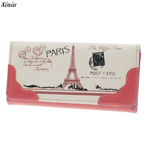 2017 New Fashion Women Wallets Female Pu Leather Zipper Card Holders Bifold Cash Pocket Girl Money Purses Female Wallets