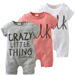 2017 New Fashion baby Romper unisex cotton Short sleeve newborn baby clothes jumpsuit Infant clothing set roupas de