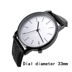 2017 New Korean Fashion Simple Style black brown Lovers' leather Watch Luxury Women Quartz Watch Men Casual Watch