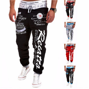 2017 New Runners Favorite Leisure Outdoors GymsSports Pants The American Flag Logo printing/pentagram Joggers Pants