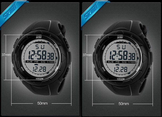 2017 New Skmei Brand Men LED Digital Military Watch, 50M Dive Swim Dress Sports Watches Fashion Outdoor Wristwatches