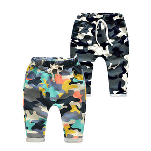 2017 New Toddlers Baby Boy Pants Kids Harem Pants Camouflage Children Pants Kids Cotton Warm Boys & Girls Trousers for 2-7 Yr