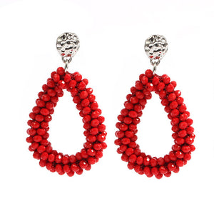 2017 New earrings For aretes largos baroque big long earrings for women pendantes christmas drop dangling crystal earrings