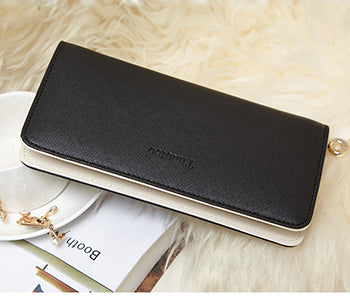 2017 New fashion Women Wallets female cards holders Candy colors PU wallet coin purses girl Long Wallet lady wallets