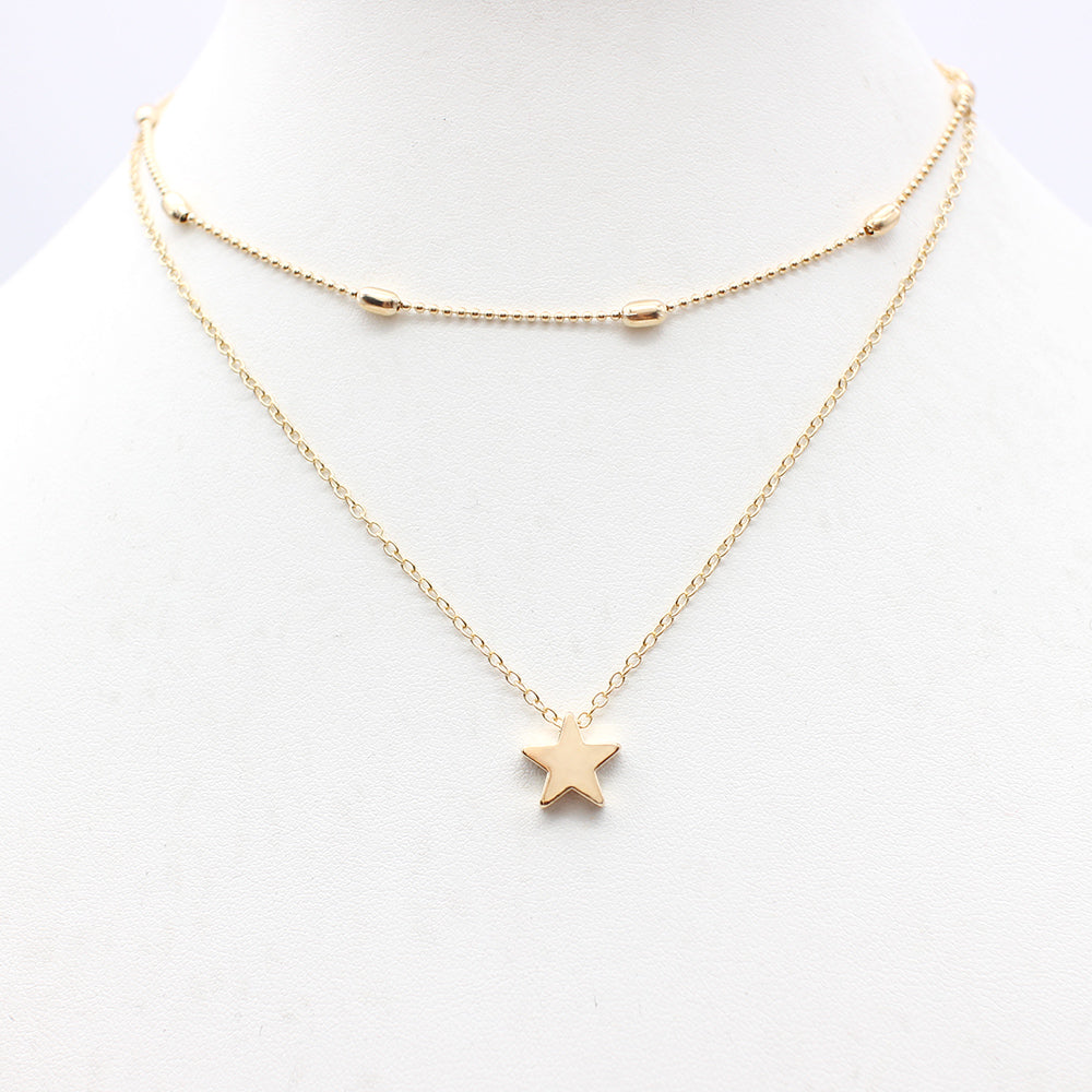 2017 Simple Love Heart Choker Necklace For Women Multi Layer Beads Chocker collar ras du cou collier femme Statement jewelry