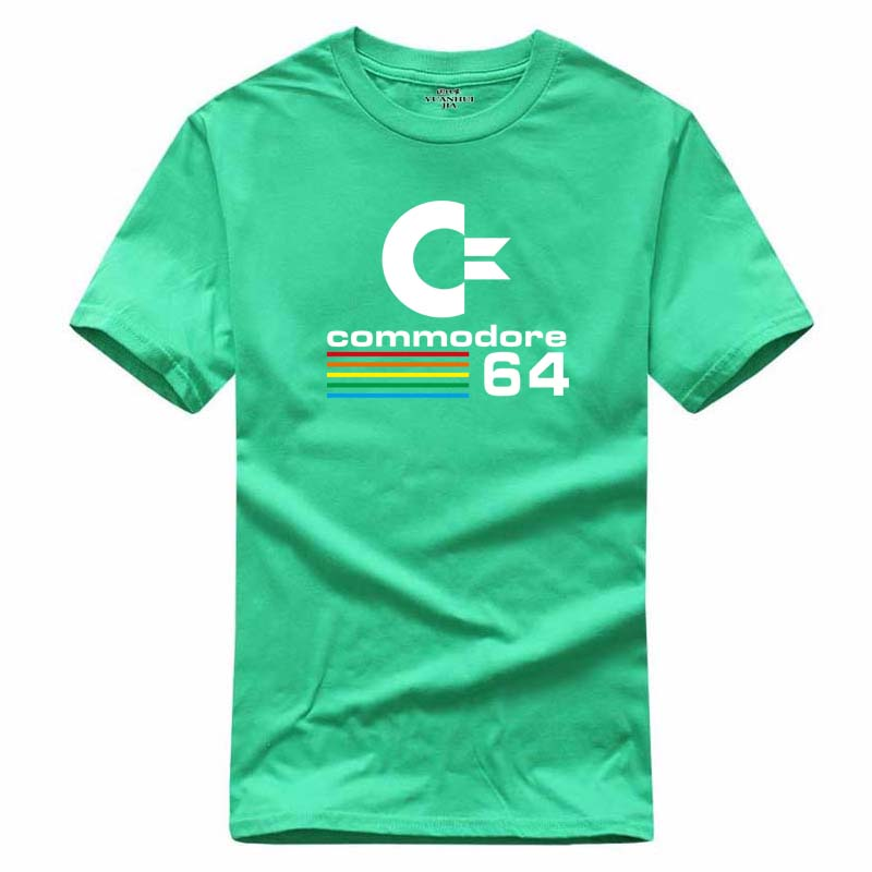 2017 Summer Commodore 64 T Shirts C64 SID Amiga Retro 8-bit Ultra Cool Design Vinyl T-shirt Mens Clothing With Short Sleeve