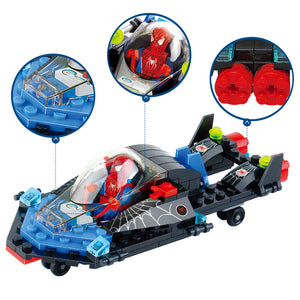 2017 Super hero Spiderman Building Blocks Compatible brand CITY FRIENDS Spiderman Educational Toy boy Birthday Gift Brinquedo