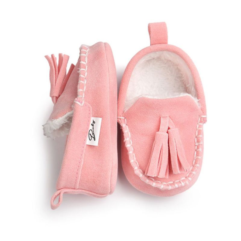 2017 Winter Baby Pu Leather Infant Suede Boots Baby Moccasins Newborn Princess Baby Shoes