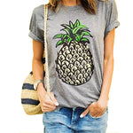 2017 Women New Brand Oversized Casual Summer Designer Grey Round Neck Short Sleeve Printed Clothes T-Shirt 61320