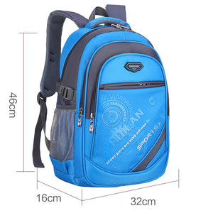 Boys Girls Orthopedic School Waterproof  Backpack Children School Bags Teenagers