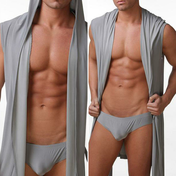 2017 new Hot Sales Men Bathrobe Bath Robe Male Robe Clothing Sleepwear Pajamas Sexy Fashion Nightgown Without Briefs Asian