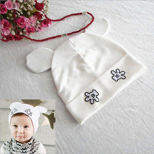 2017 new arrival baby skullies 1-24months baby beanies boy girl ears hat cute baby cap wholesale BH022 baby hats