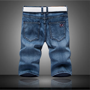 2017 new fashion mens short jeans cotton summer style shorts thin breathable denim shorts men fashionelastic jeans/size 28-36